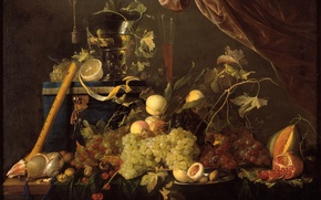 Picture art, fruit, still life, painting, The Golden age