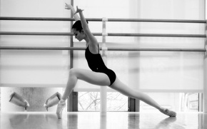 Picture girl, dance, b/W, black and white, ballerina, ballet