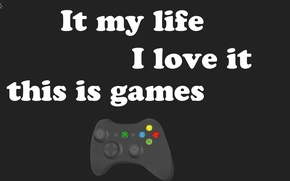 Picture love, text, background, minimalism, Game, pony, joystick, joystick, words, hardcore, brony, joystick