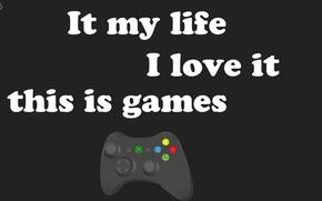Picture love, text, background, minimalism, Game, pony, joystick, joystick, words, hardcore, brony, joystick