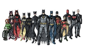 Picture Batman, superheroes, Robin, Jason Todd, batgirl, Tim Drake, Nightwing, Stephanie Brown, Dick Grayson, red hood, ...