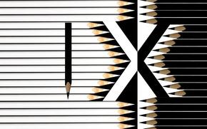 Picture black, pencils, white