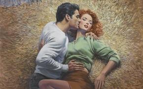 Picture figure, painting, Illustrator, Barnett Plotkin