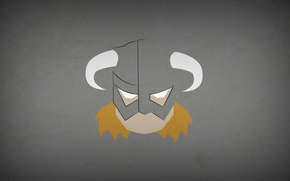 Wallpaper Skyrim, The Elder Scrolls V: Skyrim, Dovahkiin, blo0p, minimalism