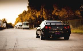 Picture Nissan, GT-R, black, skyline, R34, JDM