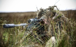 Picture weapons, army, soldiers, sniper