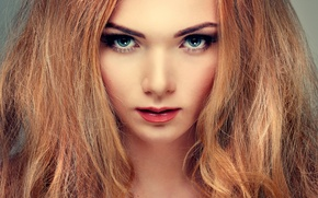Picture look, girl, eyelashes, hair, makeup, lips, beautiful