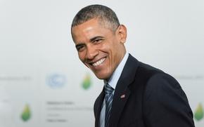 Picture smile, Obama, US president