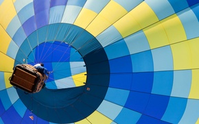 Picture flight, balloon, people, basket