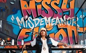 Picture girl, wall, grafiti, rap, Missy Elliot, spray paint, Missy Elliott, it