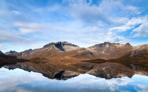 Picture mountains, lake, reflection, calm, mountain, lake, serenity, reflection
