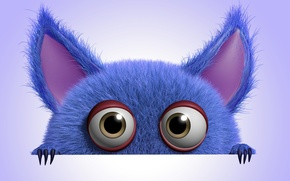 Picture monster, monster, cartoon, character, funny, cute, fluffy