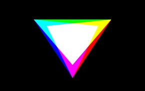 Picture color, minimalism, RGB, CMYK