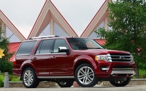 Picture Ford, Red, Expedition, Platinum