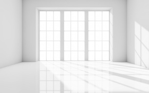 Picture room, interior, window, white, empty