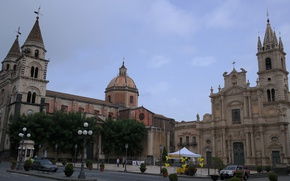 Picture area, Italy, Church, Cathedral, Acireale