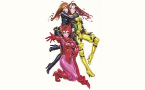 Picture Marvel, Rogue, Black Widow, Wanda Maximoff