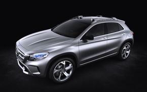 Picture Concept, Auto, Wheel, Machine, Mercedes, Silver, Jeep, Mercedes Benz, Side view, GLA