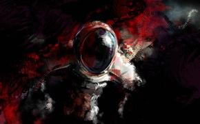 Picture glass, astronaut, spot