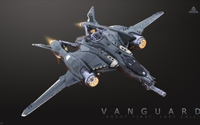Picture space ship, star citizen, Vanguard