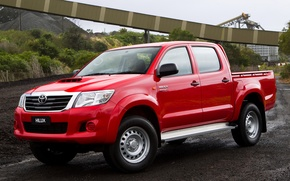 Picture Red, Japan, Machine, Australia, Wallpaper, Japan, Red, Toyota, Car, Pickup, Auto, Double, Hilux, Car, Wallpapers, …