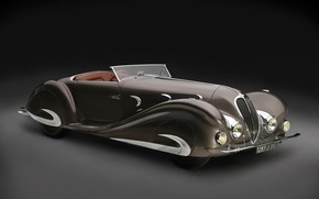 Picture Roadster, Special, retro, luxury, 1937, Delahaye, 135 MS