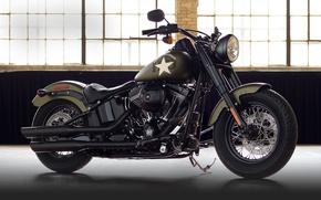 Picture moto, bike, power, american, Harley-Davidson, Slim, Softail, 2016, v-twin, cassic