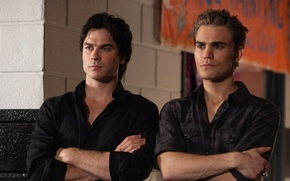 Picture The Vampire Diaries, brothers, men, The vampire diaries, Ian Somerhalder, Ian Somerhalder, Paul Wesley, Paul …