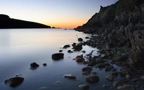 Wallpaper shore, water, stones
