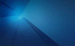 Picture line, blue, abstraction