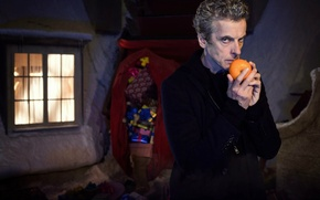 Picture winter, look, snow, house, street, Christmas, window, gifts, actor, male, christmas, sleigh, bag, Doctor Who, …
