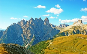 Picture mountains, Alps, meadow, Italy, nature photo