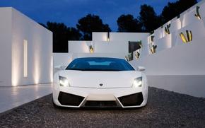 Wallpaper sportcar, Lamborghini, white