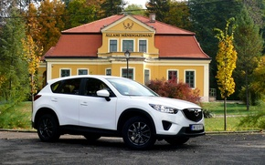 Picture white, jeep, white, SUV, Mazda CX-5