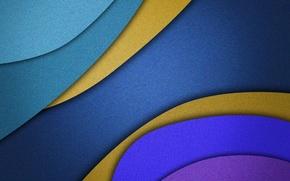 Picture line, color, the volume, layer