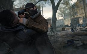 Picture gun, street, cap, lane, Ubisoft, Aiden Pearce, watch dogs