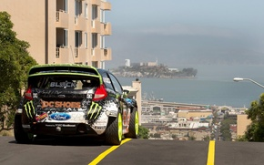 Picture Ford, Auto, The city, Sport, Machine, Ford, Ken Block, Rally, Fiesta, rallycross