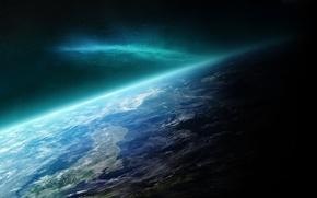 Wallpaper planet, lights, space