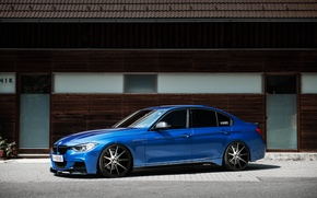 Picture BMW, Blue, BMW, Drives, Tuning, F30