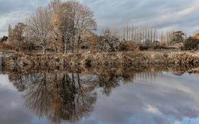 Picture Autumn, England, Alverthorpe, winter reflections, Wakefield