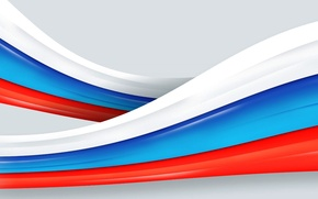 Picture background, flag, tape, Russia