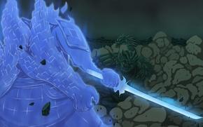Picture sword, battle, naruto, manga, naruto, Susano, shippuden