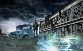 Picture The game, Postapokalipsis, Stalker, Chernobyl, Art, STALKER, Anomaly, Area, Shadow Of Chernobyl, Stalkers