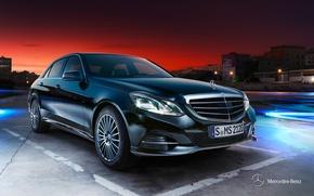 Wallpaper Mercedes-Benz, E-class, 2012, sedan, Mercedes, W212, Saloon