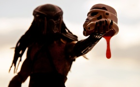 Wallpaper toy, predator, background, helmet, Star Wars, thing, figurine, being