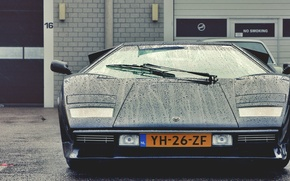 Picture drops, beauty, classic, Lamborghini Countach