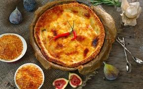 Wallpaper pie, pepper, cakes, Chile, figs
