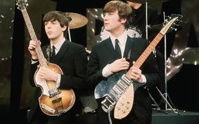 Picture music, The Beatles, rock, legends, Beatles, John Lennon, John Lennon, Paul McCartney