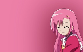 Picture Girl, Figure, Smile, Girl, Anime, Art, Anime, quality, Bright, Laughter, Fun, Pink color, High