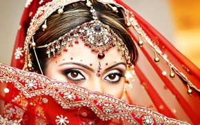 Picture eyes, girl, decoration, makeup, East